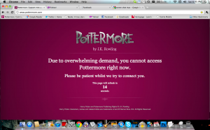 Pottermore is Unavailable Screen Shot