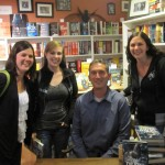 From left to right, Me (Jessica), Amber, James Dashner, Alyssa