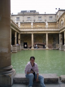 Me at the famous Roman Baths in Bath, England.