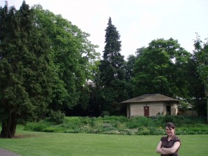 Me at a park that Jane Austen probably visited in Bath, England.  Rick Steve's said so.