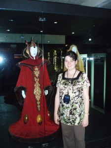 Me and Queen Amidala's lightbulb dress that she uses for deep thinking while looking out windows.