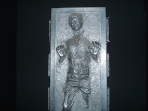 Someone unmelt my heart. It's Han Solo in carbonite.