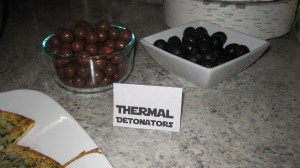 Thermal Detonators (Whoppers and Olives for my aunt who hates Whoppers)