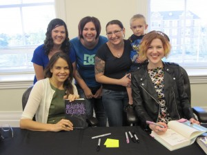 (Back) Jessica, Alyssa, Jenni and son, (Front) Margaret Stohl and Stephanie Perkins.