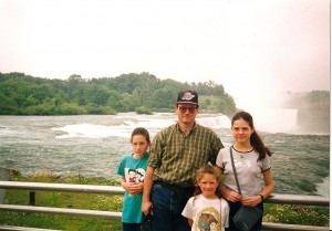 My family and me and Niagara Falls.