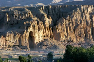 The outline in the mountain where the Buddha of Bamiyan used to be Image Source