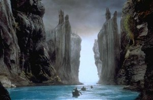 Argonath from Fellowship of the Rings