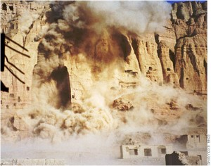 Destruction of the Bamiyan buddhas in March 2001