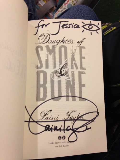 My signed Daughter of Smoke and Bone!!!