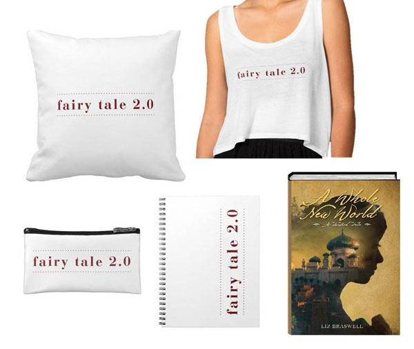 Copy of A Whole New World plus FAIRY TALE 2.0 tank, notepad, cosmetic pouch & pillow