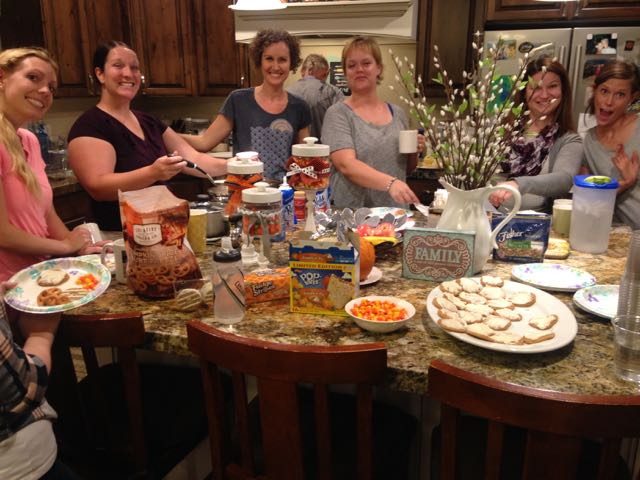 The awesome ladies in my book club surrounded by pumpkin spice and everything nice.